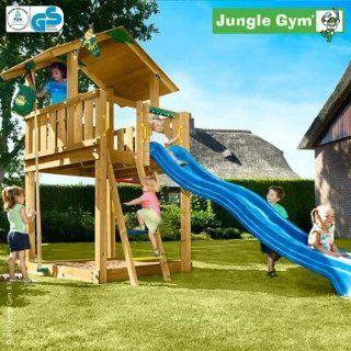 Jungle Gym Spielturm CHALET mit Rutsche   Grün Spielzeug