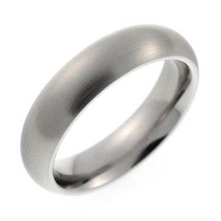 Herren Ring/Ringe aus Edelstahl/silber ohne Stein fein mattiert NEU