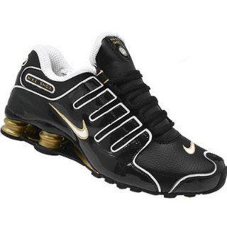 NIKE SHOX NZ SI Schuhe, Schwarz Weiss Gold 309720 012