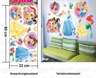 Wandaufkleber Wandtattoo Wandsticker Disney Prinzessin Kinderzimmer