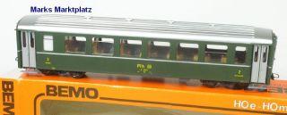 H0m Personenwagen 2.Kl. B 2451 RhB grün Bemo 3255 neuw. OVP