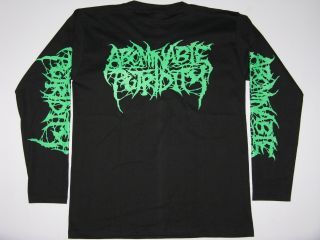 ABOMINABLE PUTRIDITY Death Metal Long Sleeve Mens T Shirt Size M