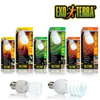 Exo Terra Repti Glo Compact   2.0   5.0   10.0   13 Watt, 26 Watt   UV