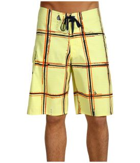 NEW Volcom Maguro Plaid Board Shorts Swim Trunks W 34 Yell