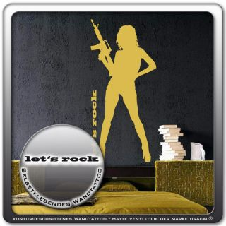 Wandtattoo Pin up Girl Erotik Aufkleber Sticker WT447