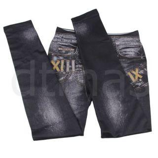 Jeans Stretch Treggings Leggings Jeggings Damenleggings Sexy