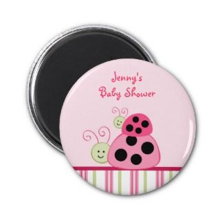 Dotty Ladybug Baby Shower Party Favor Magnets
