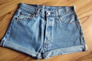 Levis 501Jeans Shorts Blogger Gr. 29 S Higher Waist vintage hipster