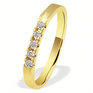 Goldmaid Damen Ring 585 Gelbgold 5 Brillanten 0,15ct Memoire Gr. 54 Me