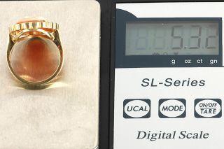 GELEGENHEIT AUS PRIVATBESITZ #457 ANTIKER RING GOLD 585 MIT MUSCHEL