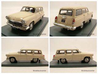 GAZ Volga M22 1960 beige Kombi Modellauto 143 Neo