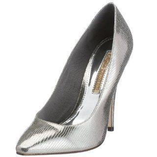 Buffalo 9993 437 Damen Pump Metallic pewter, silber Schuhe