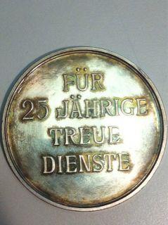 MEDAILLE LANDSHUT FÜR 25 JÄHRIGE TREUE DIENSTE L. CHR. LAUER