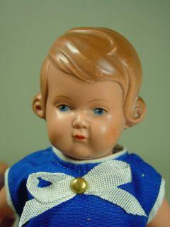 P466/ alte Schildkröt Puppe Inge Celluloid Puppenstube um 1950 ca.19