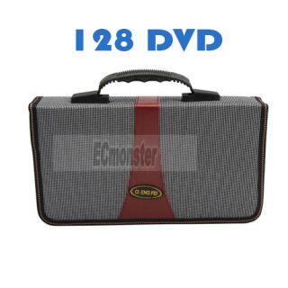 Fashion 128 Capacity CD Storage Bag Holder Case White Red New DJ