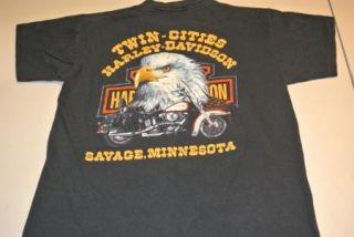 vtg 3d harley davidson minnesota t shirt t shirt small