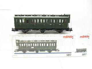 Märklin 5817 Spur1 Personenwagen Abteilwagen DB EP 3 grün OVP NEUW