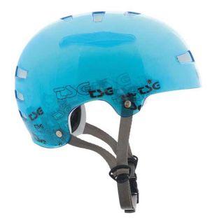 TSG Evolution Helm BMX Bike durchsichtig Blau L/XL