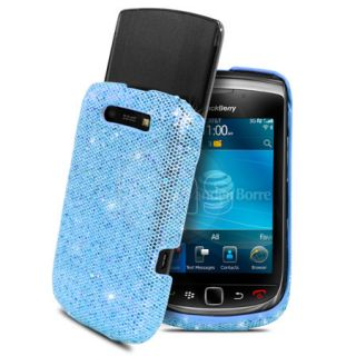 London Magic Store   Blue Sparkle Glitter Hard Case For Blackberry
