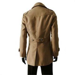 Zweireiher Slim fit Stil Herren Mantel Wintermantel Jacke Jacket