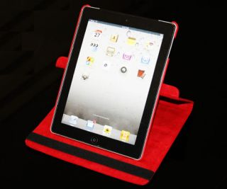 iPad 2, 360° Drehbar Smart Edel Leder Tasche Hülle Etui Leather Case