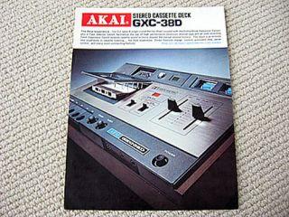 Akai GXC 38D cassee deck brochure caalogue
