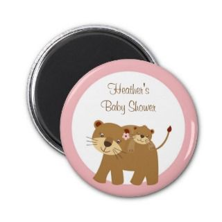 Girl Baby Jungle Lion Baby Shower Favor Magnets