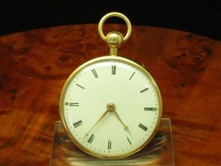 18kt 750 GOLD OPEN FACE TASCHENUHR VIERTEL REPETITION