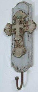 La Finesse Garderobenhaken Wandgarderobe Kruzifix Kreuz Shabby Style