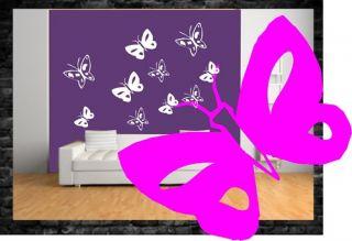 Wandtattoo,Deko,aufkleber,Schmetterling ,Blume,Sticker,