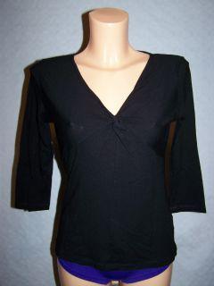490# Damen Shirt Stretchshirt Stretch Damenshirt 3/4 Arm V Ausschnitt