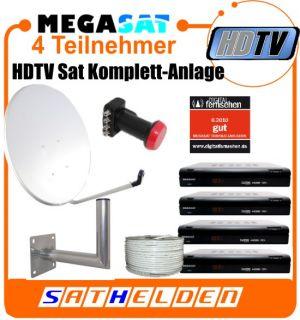 Teilnehmer HDTV Sat Anlage HD 500 WH SQ Spiegel Kabel