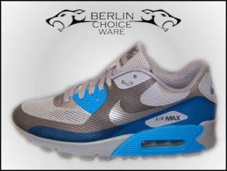 Nike Schuhe/Sneaker Air Max 90 Hyp PRM Grey/Blue Gr.39 47,5 Hyperfuse