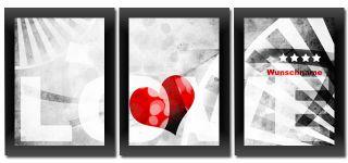 ICH LIEBE DICH Geschenk BILD MIT IHREM WUNSCHNAMEN Vorname LOVE Herz