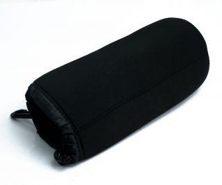 XL Black Neoprene Soft DSLR SLR Camera Lens Pouch Case Bag 10cmx24cm