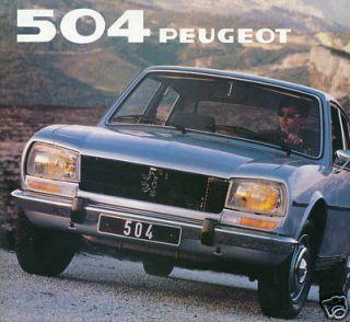 Peugeo 504 Prospek 1981 brochure prospecus