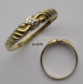 508   Zarter Ring aus Gold 333 mit Diamant     Video  533