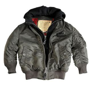 Neu Kinder MA 1 D Tec Alpha Industries Bomberjacke grey