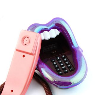 Neu amüsant Lippen Telefon Mund und Zunge Schnurgebundene Telefon