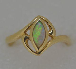 Opal, shöner Ring #53, 535er Gold   14K