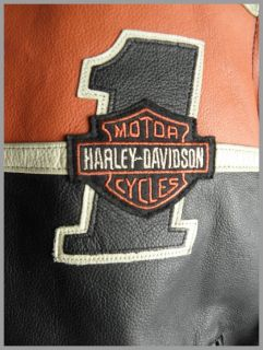 HARLEY DAVIDSON Herren Motorradjacke RACE JACKET Leder Motorrad Jacke