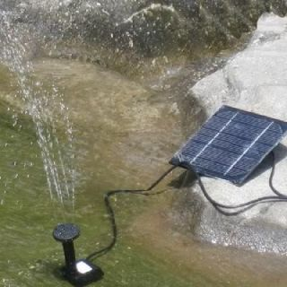 Solar Power Fountain Pool Water Pump Garden Plants Sun