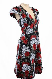 40 KLEID tunika skull ROCKABILLY DANCE PARTY DRESS emo Vestido