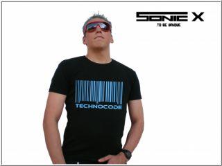 Techno Shirt Hardstyle Neon Rave Sonic X Technocode