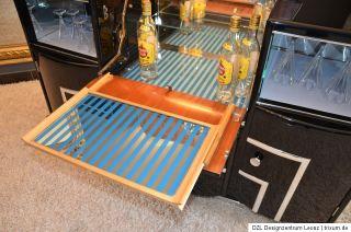 Art Deco Sideboard Barschrank Hausbar Lack schwarz 30er Chrom