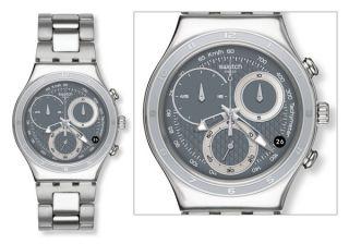 OBLIQUE END GREY NEU Swatch Uhr Irony Chrono   YCS546G