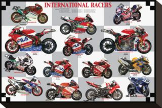International Racers Stretched Canvas Print
