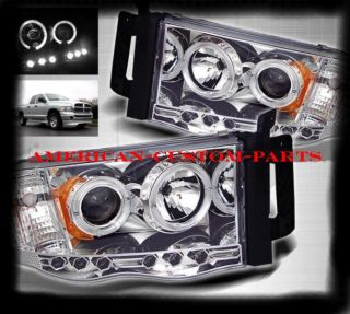 LED Projector Scheinwerfer Chrom Dodge Ram 02 05 Pickup