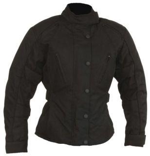 Damen Motorrad Jacke Motorradjacke schwarz Gr. S bis XL