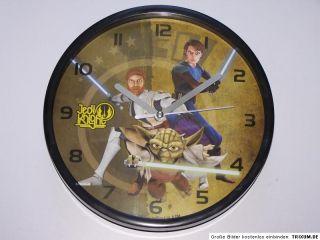 Star Wars Clone Wars Jedi Yoda Anakin Uhr Wanduhr Neu